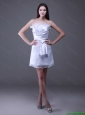 New Arrivals Strapless Ruffles Short Prom Gowns in White