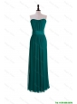 Perfect 2016 New Style Empire Belt and Ruching Prom Dresses in Dark Green