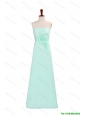 Pretty Elegant A Line Strapless Prom Dresses with Hand Made Flowers