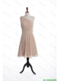 Cheap Inexpensive Champagne Short Prom Dresses with Belt for Holiday