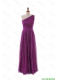 Pretty Luxurious One Shoulder Pleats and Belt Long Prom Dresses
