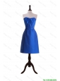 Beautiful New Style Royal Blue Short Prom Dresses with Belt for 2016