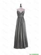 Perfect Gorgeous A Line Spaghetti Straps Prom Dresses with Belt in Grey
