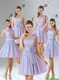 2016 Spring A Line Mini Length Bridesmaid Dresses in Lavender