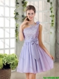 Custom Made A Line One Shoulder Lace and Bowknot Bridesmaid Dresses