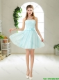 Elegant Strapless Mini Length Bridesmaid Dresses with Bowknot