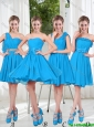 Exclusive 2016 Prom Dresses with Ruching in Blue