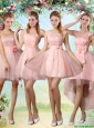 Popular A Line Pink Prom Dresses with Lace and Appliques