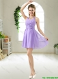 Modest Halter Top Hand Made Flowers Prom Dresses in Purple