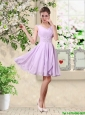 Popular V Neck Lavender Prom Dresses with Beading