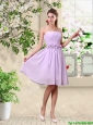 Classical A Line Appliques Prom Dresses in Lavender
