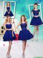 Wonderful Mini Length Royal Blue Prom Dresses with Appliques