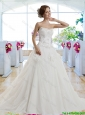 Classical A Line Court Train Wedding Dresses for Garden