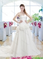 Fashionable Hand Made Flowers Bridal Gowns with Sweetheart