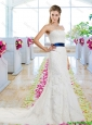 Popular 2016 Appliques and Belt Wedding Dresses with Strapless