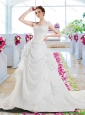 Fashionable A Line Wedding Dresses with Appliques