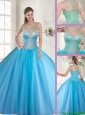 Beautiful Scoop Tulle Quinceanera Dresses with Beading