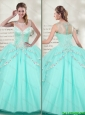 Best Selling Scoop 2016 Spring Mint Quinceanera Dresses with Beadedwith