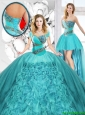 Modest Beaded Detachable Quinceanera Dresses with Sweetheart