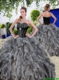 New Arrivals Beaded and Ruffles Quinceanera Dresses in Black