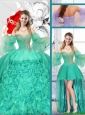 New Style Sweetheart Detachable Quinceanera Gowns with Ruffles