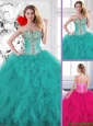Popular Beading Quinceanera Dresses with Ruffles for 2016 Spring