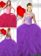 2016 Spring Classical Beading Ball Gown Quinceanera Gowns with Sweetheart
