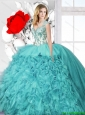 Latest Ball Gown Straps Quinceanera Dresses with Appliques