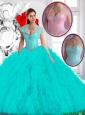 Perfect 2016 Spring Ball Gown Quinceanera Dresses with Ruffles