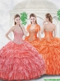 Exclusive Beading Quinceanera Dresses with Ruffled Layers