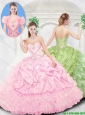 Newest Sweetheart Beading Pink Quinceanera Gowns for 2016