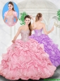 Pretty Ball Gown Sweetheart Beading Rose Pink Quinceanera Dresses