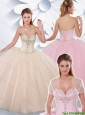 Simple Ball Gown Sweetheart Quinceanera Gowns with Beading