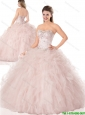 Beautiful Beading Baby Pink Quinceanera Dresses for 2016