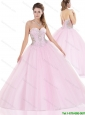 Beautiful Sweetheart Pink Quinceanera Gowns with Beading