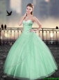 Cheap Beading Sweetheart Quinceanera Gowns for 2016 Spring