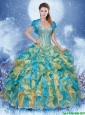 Cheap Multi Color Quinceanera Gowns with Beading and Ruffles