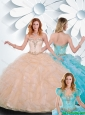 Cute Sweetheart Quinceanera Dresses with Ruffles and Beading for Summer