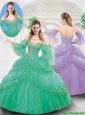 Gorgeous Beading Quinceanera Gowns with Hand Made Flowers