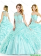 Pretty Sweetheart Beading Quinceanera Gowns with Pick Ups