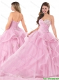 Pretty Sweetheart Pink Quinceanera Dresses with Beading