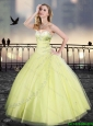 Classical Yellow Sweetheart Quinceanera Dresses with Beading
