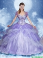 Elegant Beading Quinceanera Dresses with Sweetheart in Lavender