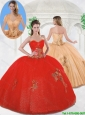 Elegant Sweetheart Quinceanera Gowns with Beading and Appliques