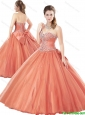 Perfect Rust Red Quinceanera Dresses with Beading and Bowknot