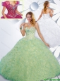 Pretty Sweetheart Quinceanera Gowns with Beading and Ruffles