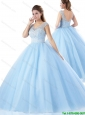 2016 Popular Zipper Up Quinceanera Dresses in Lavender