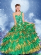 Exclusive One Shoulder Beading 2016 Quinceanera Gowns