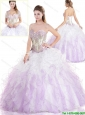 Exclusive Ruffles and Beading Sweet 16 Gowns in Multi Color