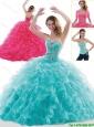 Fashionable Brush Train Beading and Ruffles Sweet 16 Dresses